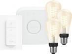 Coolblue - Philips Hue Decoratieve Edisonlamp Warmwit Licht E27 Bluetooth 3-Pack Startpakket black friday deals