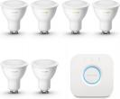 Bol.com - Philips Hue Starterspakket G10 Lichtbron met Bridge – White Ambiance – 6 x 5W – Bluetooth black friday deals