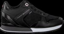 Omoda - Zwarte Tommy Hilfiger Lage Sneakers Dressy Wedge black friday deals