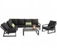AVH Outdoor Tuinmeubelen - Dazzling hoek loungeset antraciet aluminium black friday deals